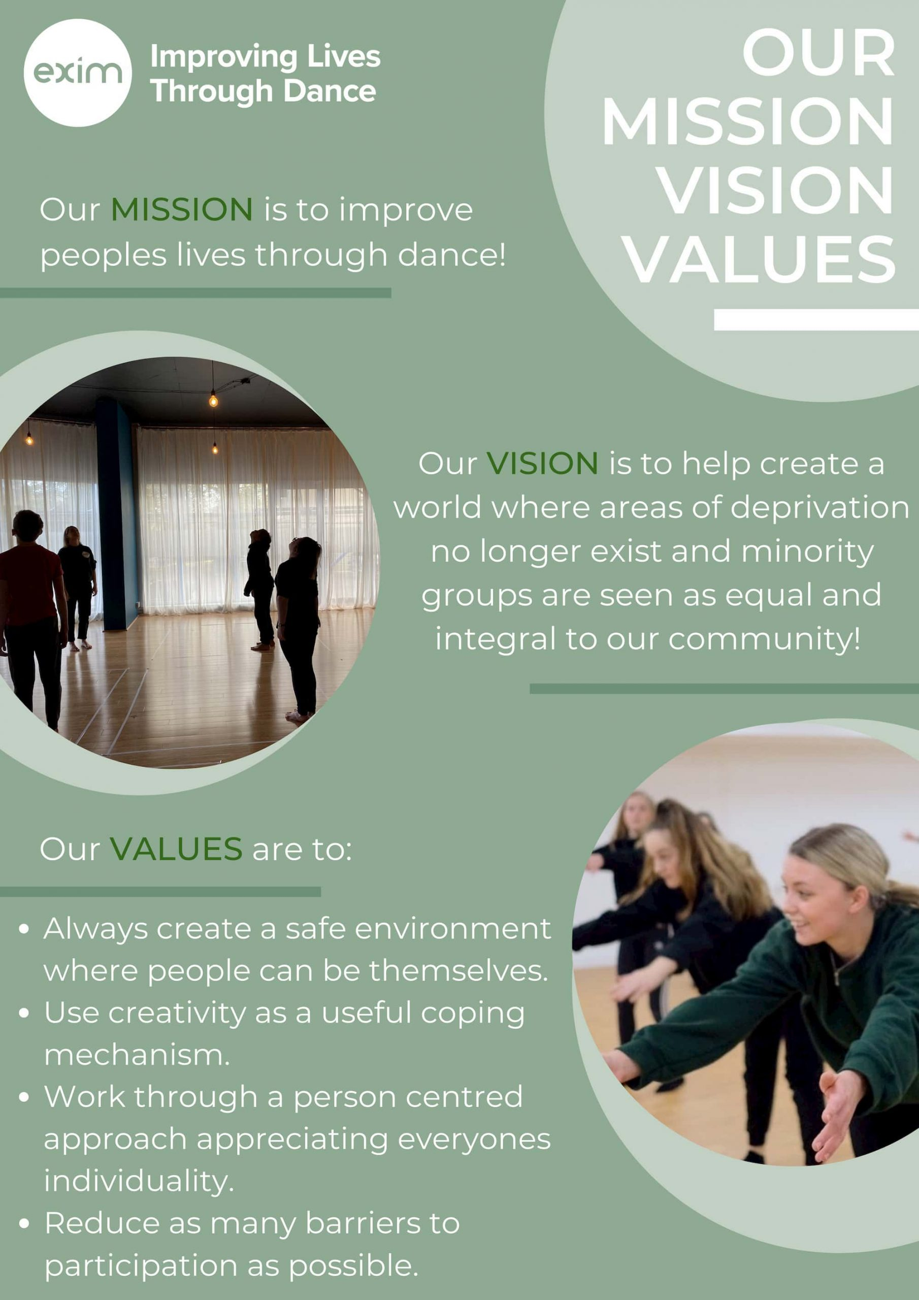 Mission, Values and Visions